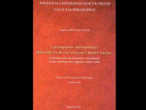 """Venerdì 11 agosto don Magloire presenta il suo elaborato per il conseguimento del Dottorato in filosofia intitolato: """"I presupposti antropologici della libertà di coscienza in Charles Taylor"""""""