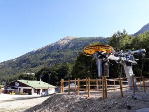 La base di partenza degli impianti da sci di Campo di Giove