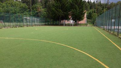 Il campo da calcetto (in erba sintetica) di Campo di Giove