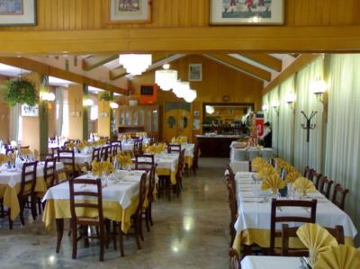 La sala da pranzo del Ristorante La Vecchia Fonte