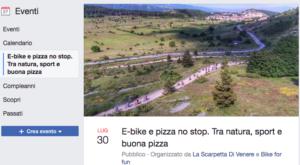 """Giro in E-bike a Campo di Giove e, al rientro, pizza no-stop presso il ristorante pizzeria """"La Scarpetta di Venere""""."""