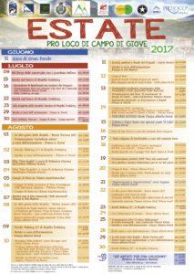 Programma estate 2017 Campo di Giove