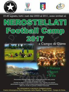 Scuola calcio per ragazzi a Campo di Giove in collaborazione con la squadra del Pratola Peligna Nerostellati 1910