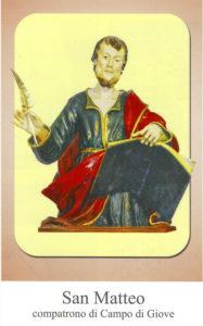 San Matteo Evangelista è il compatrono di Campo di Giove