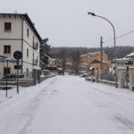 Viale Marconi con la neve, Campo di Giove 26 febbraio 2018
