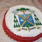 Torta con stemma episcopale di Mons. Michele Fusco