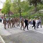 Arrivo dei partecipanti alla 18esima edizione del Freedom Trail, Campo di Giove 27 aprile 2018