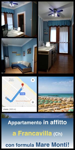 Casa in affitto per vacanze al mare a Francavilla (Ch) anche con formula Mare Monti per soggiorni in montagna