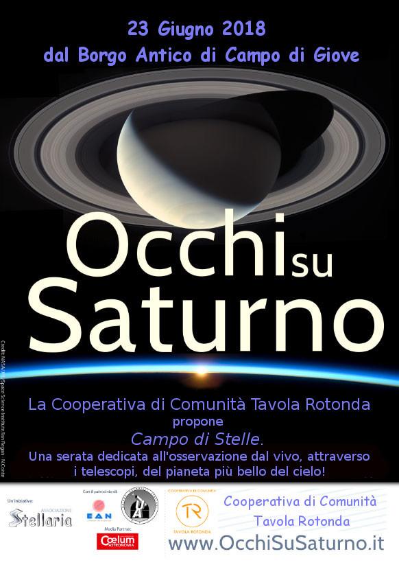 Occhi su Saturno, osservazione del cielo stellato di Campo di Giove. Sabato 23 giugno 2018