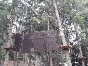 L'area del percorso avventura di Campo di Giove Maja Park