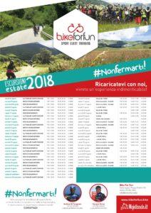 Il programma completo delle escursioni di Bike for Fun estate 2018