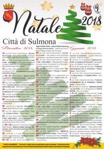 Il cartellone degli eventi natalizi di Sulmona