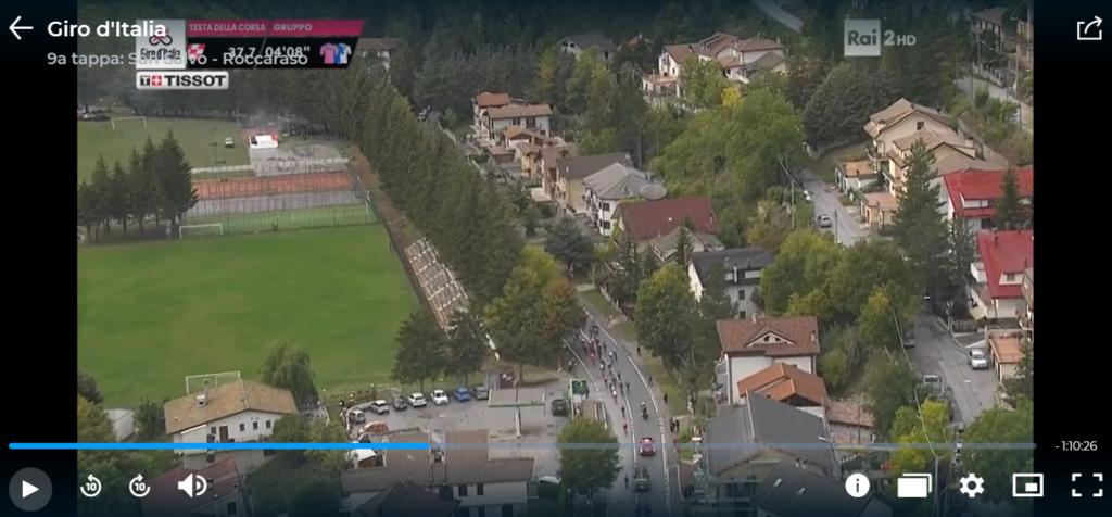 Il passaggio del Giro d'Italia 2020 a Campo di Giove (riprese ufficiali RAI)