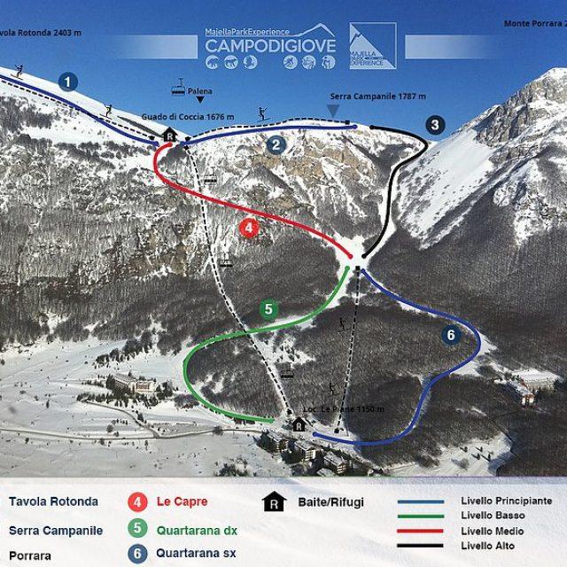 Gli impianti da sci di Campo di Giove