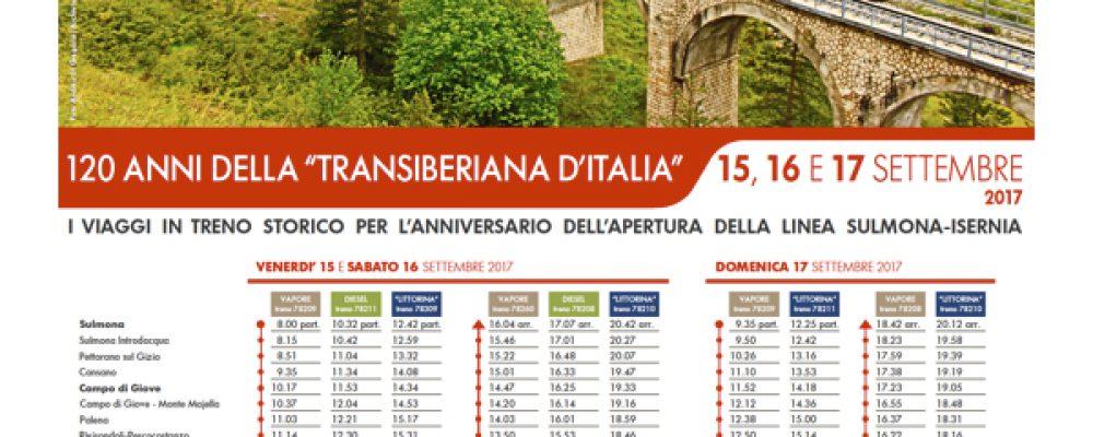 I 120 anni della Transiberiana d'Italia. Eventi in programma dal 15 al 17 settembre
