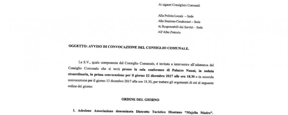 """Anche il Comune di Campo di Giove aderisce all'Associazione """"Distretto Turistico Majella Madre"""""""