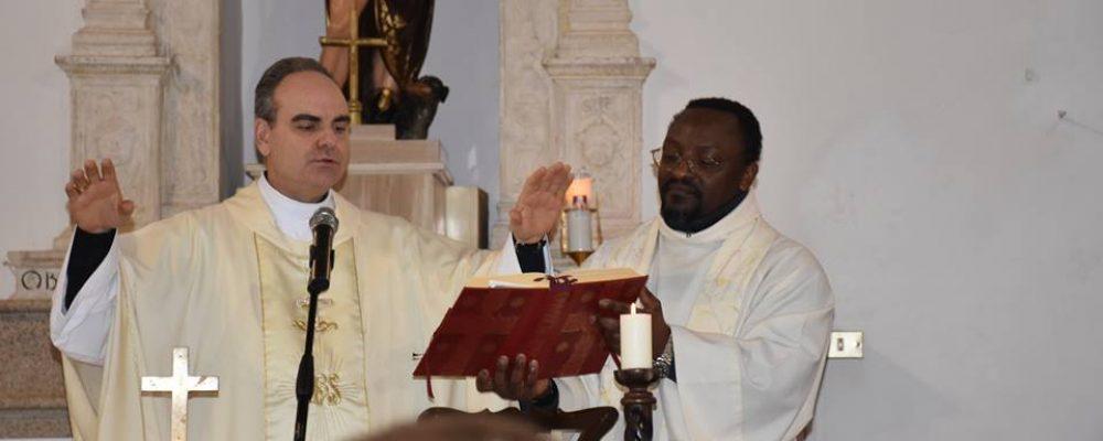 Il Vescovo Michele Fusco a Campo di Giove