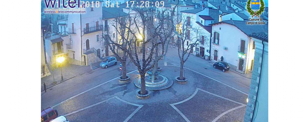 Di nuovo in funzione le webcam di Campo di Giove