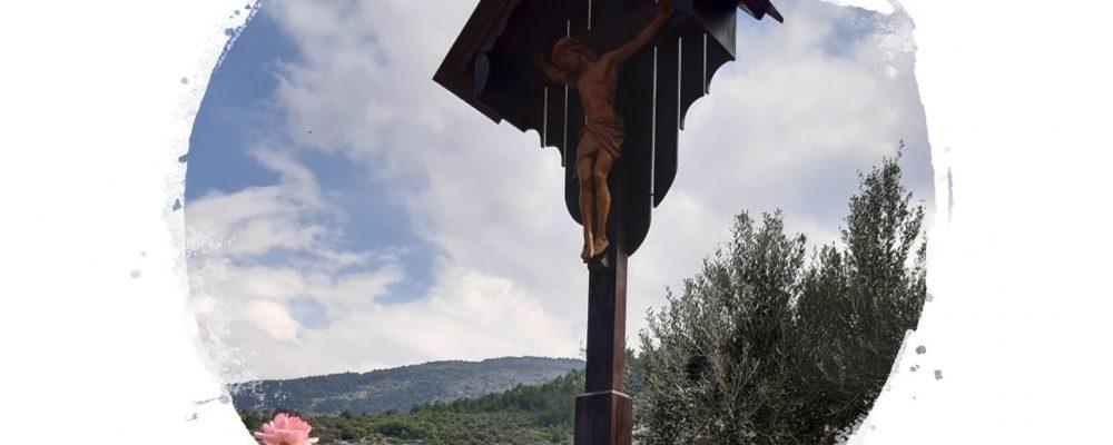 Ripristinato il Crocifisso al bivio tra Pacentro e Cansano-Campo di Giove