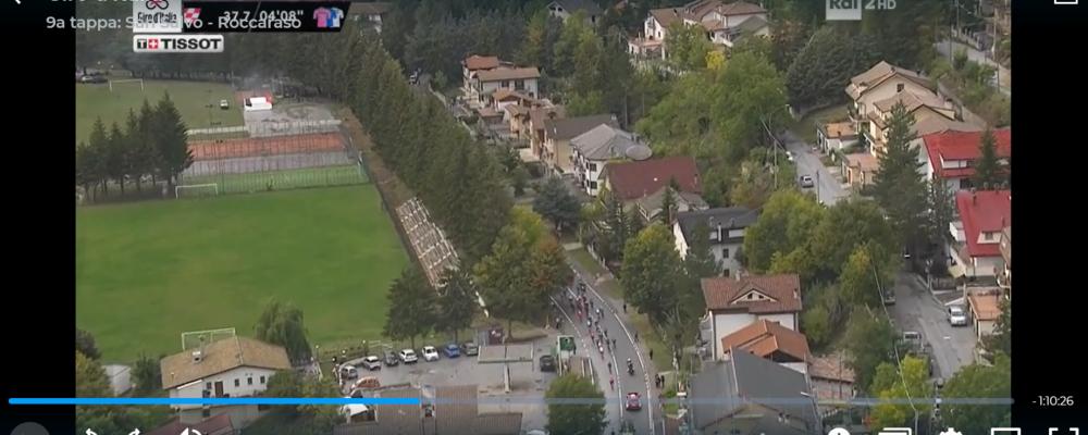 Campo di Giove ripreso al Giro d'Italia
