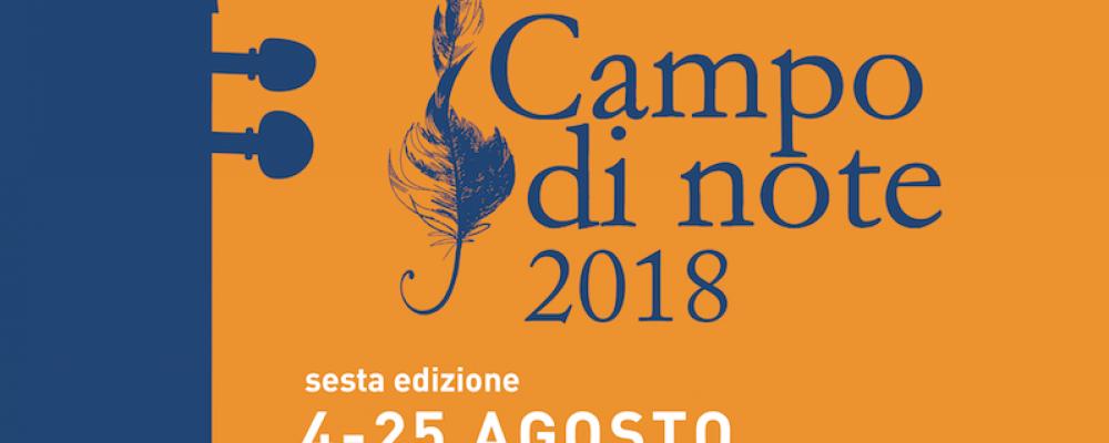 Campo di Note: il programma artistico e gli incontri culturali