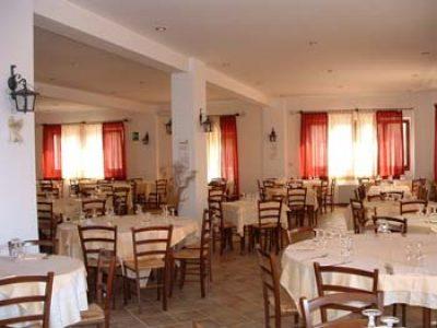 La sala ristorante dell'Albergo-Pensione