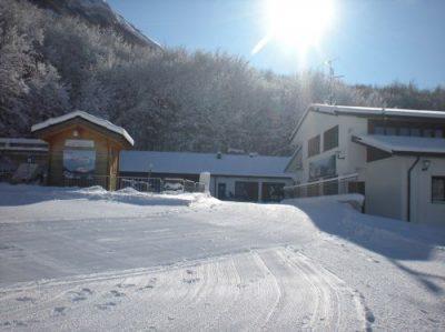 La base degli impianti da sci di Campo di Giove