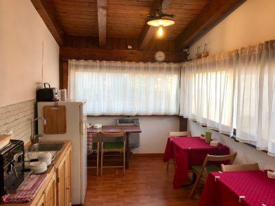 La sala colazioni del Bed and Breakfast